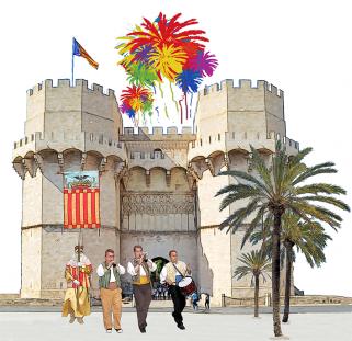 Logo Valencia, Fiesta y tradición